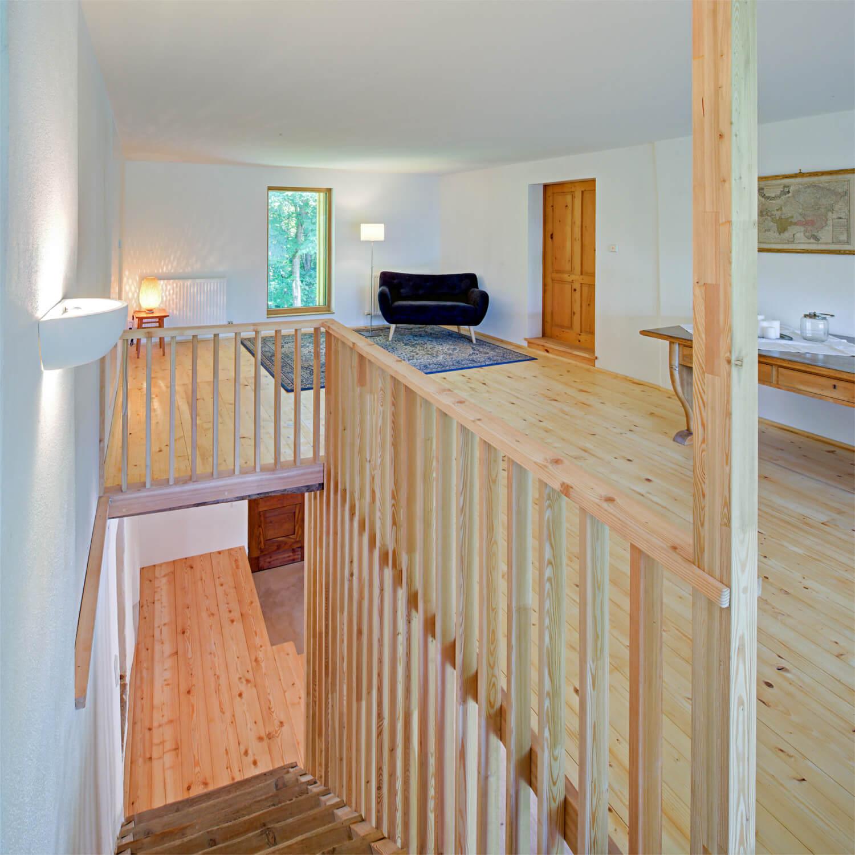 """Ferienhaus Maar1 am Goldberg - Halle 1. Stock, Mauf (kärnt. für """"oben auf"""")"""